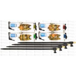 Set 4 Avertizori / Senzori TLI 07 Cu 4 Swingeri Lumino SI Tije /Picheti