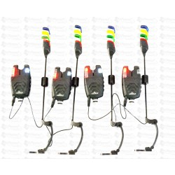Set 4 Avertizori / Senzori Pescuit EastShark TLI-32 Cu 4 Swingeri Pescuit Magnetici Lumino Model 2018 4 Culori
