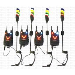 Set 4 Avertizori Eastshark TLI 34 Snag Bar Antifurt 4 Swingeri Magnetici Lumino