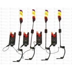 Set4 Avertizori Eastshark TLI 33 Compact 4 Swinger Magnetici Lumino