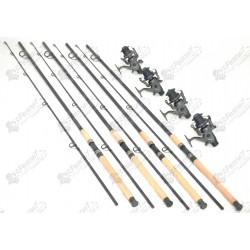 Set 4 lansete WIND BLADE 3m cu 4 mulinete gkfl6000 cu 6 rulmenti si baitrunner
