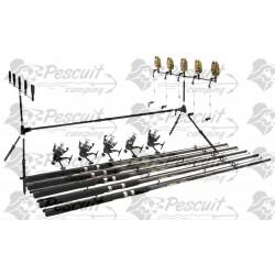 Kit Complet 3.0 m Pescuit Rod Pod 5 Posturi,Avertizori,Swingeri,Lansete 3m ,Mulinete,Guta Cadou.