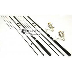 Set 2 Lansete Feeder Wind Blade 3.9m Cu 2 Mulinete Grand Premium