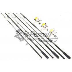 Set 3 Lansete Crap / Caras MACKEREL & BASS 3m cu 3 Mulinete